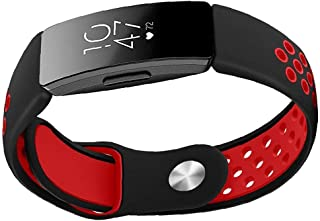 Silicone Watch Rem Kompatibel med Fitbit Inspire Soft Watch Band Replacement Red, Sports silikonrem