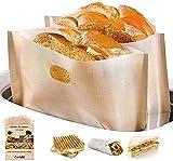 LUXINES - 4 Sacs pour grille pain réutilisables Sacs de cuisson anti-adhésif Sacs pour sandwich panini grillé grille-pain sac à grillé cuisson sachet poche