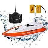 ERolldeep Rc Boat H800 High Speed Racing Boat Radio Remote Control Electric Boat-Orange