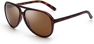 JIM HALO - Polarizadas Aviador Gafas de Sol Hombre Mujer Oversize Plástico Conduciendo Anteojos