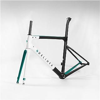 PPLAS Cadre de vélo en carbone blanc 2020 pour vélo de route (couleur : 1, taille : frein de jante)