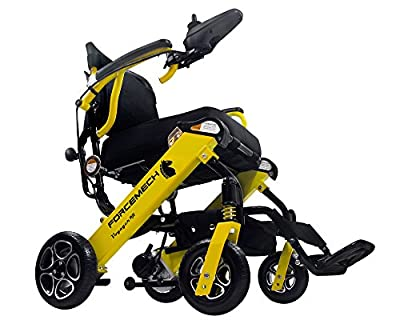 Forcemech Voyager R2- Ultra Portable Folding Power Wheelchair - Weights Only 43 lbs - Airplane Travel Approved