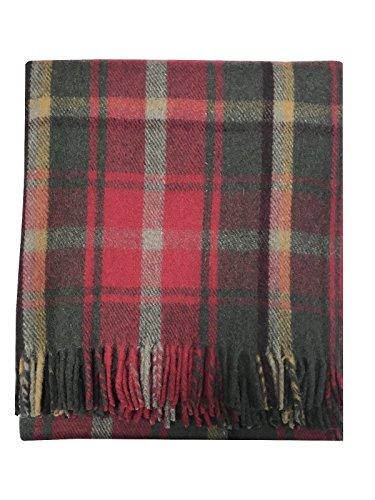Highland scozzesi tartan tweed 100% lana Dark Maple tartan tappeto/coperta