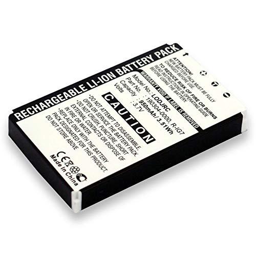 subtel® Batterie Premium Compatible avec Logitech Wireless DJ Music System (950mAh) 190301-0000, R-IG7 Batterie de Rechange, Accu Remplacement