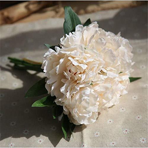 Künstliche Blume Künstliche Blumen Tiffany Blue Peony Bouquet Für Hochzeitsdekoration 5 Köpfe Pfingstrosen Gefälschte Blumen Seide Hortensien Blumen Whitepeony