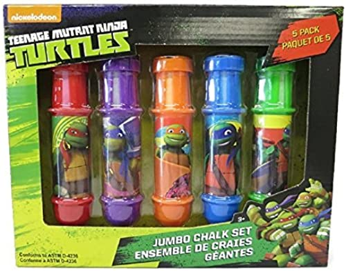 Ahorre 35% - 70% de descuento Nickelodeon Nickelodeon Nickelodeon TMNT Jumbo 5 Piece MultiColor Chalk Set with Adjustable Holders by Nickelodeon  precio razonable