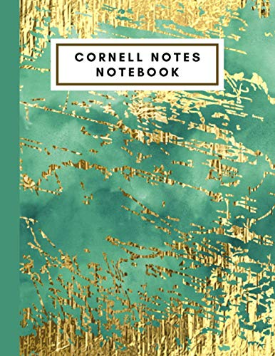 Cornell Notes Notebook: Nifty Elegant Large Glamour College Ruled Medium Lined Journal Note Notes Taking System for School College and University Journal Composition Book Planner Paper