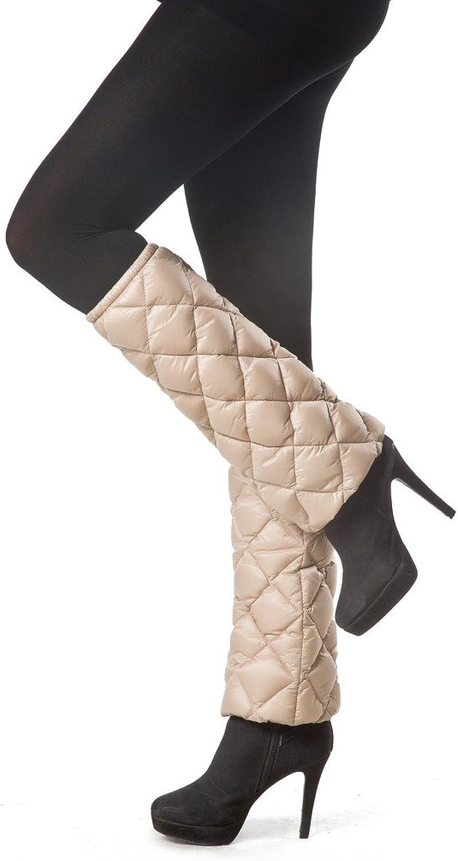 XPOSURZONE Packable Down Leg Warmer_One Pair Champagne
