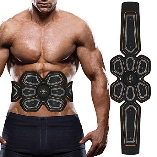 LOFFU EMS Bauchmuskeltrainer EMS Muskelstimulator USB Wiederaufladbar Elektrostimulation Muskeltraining EMS Trainingsgerät für Arm Bauch Beine Bizeps Trizeps für Körperbau und Fettverbrennung