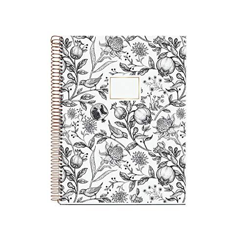 Miquelrius 47719 - Cuaderno Espiral A4, Tapa Dura, 120 Hojas Cuadrícula Interior, 4 Colores Granada