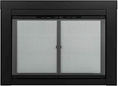 Pleasant Hearth AN-1010 Alpine Fireplace Glass Door, Black, Small from Pleasant Hearth