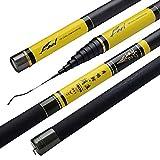 WYFDM Canne à pêche télescopique en Fibre de Carbone pour pêche à la Carpe 8 à...