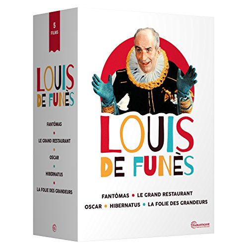 Louis de Funès - 5 films cultes : Fantomas + Le grand restaurant + Oscar + Hibernatus + La folie des grandeurs