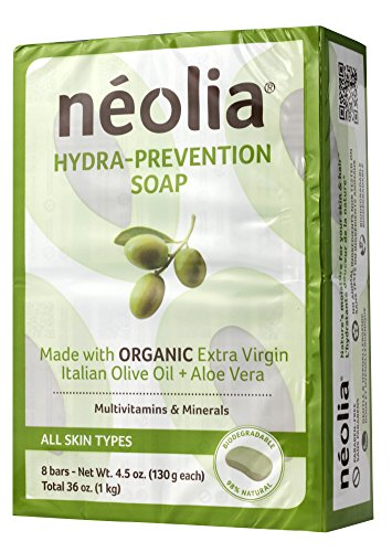 Neolia Hydraprevention Olive oil Moisturizing Bar Soap 8 x 130g – 100% Natural Ingredients Highly Moisturizing amp Extra Virgin Olive Oil Soap Bars – Relieves Common Skin Irritations