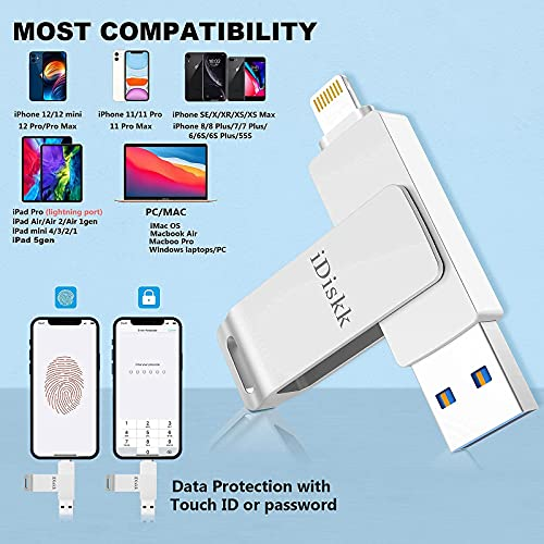 iDiskk 128GB Photo Stick for iPhone USB Flash Drive Product Image