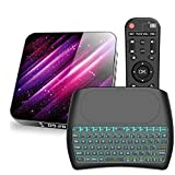 Android TV Box 10.0,H40 H616 Quad-Core 64bits Arm Cortex-A53 Smart TV Box BT 5.0 Dual Band WiFi 2.4GHz 5.8GHz Ultra HD 1080P 4K 6K HDR USB 3.0 with Backlit Wireless Keyboard4+32G
