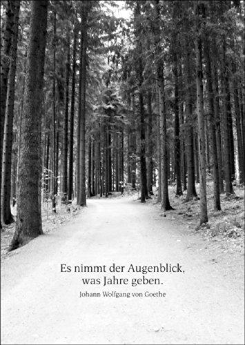 Liebevolle Trauerkarte zum Gedenken mit Goethe Zitat • auch zum direkt Versenden mit ihrem persönlichen Text als Einleger. • schöne Beistandskarte um den Hinterbliebenen mit tiefem Mitgefühl zu kondolieren