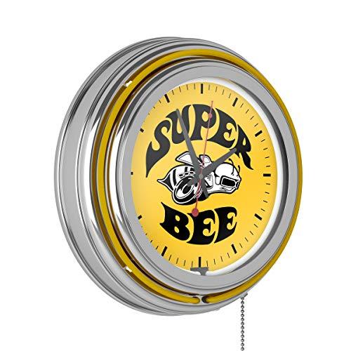 Trademark Gameroom Dodge Chrome Double Rung Neon Clock - Super Bee