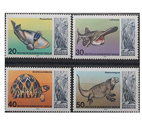 Robbert´s Briefmarken Berlin MiNr. 552-555, 25. Jahrestag der Wiedereröffnung des Aquariums im Berliner Zoo, Satz 4 Werte, 1977, postfrisch