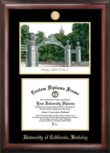 Campus Images NCAA Gold Embossed Online limited product with Bombing new work Frame Lithograph Diploma