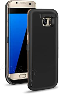 Galaxy S7 Edge Battery Case, Quick Charge Extended Charging Battery Pack for Samsung Galaxy S7 Edge SM-G935V 6800 mAh Backup Power Bank Protective Case with Kickstand (Black)