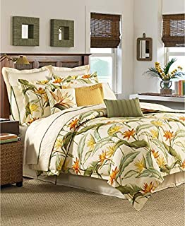 Tommy Bahama Home Birds of Paradise 4 Piece Queen Comforter Set Coconut