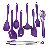 Chef Craft 9 Piece Silicone Kitchen Tool and Utensil Set,...