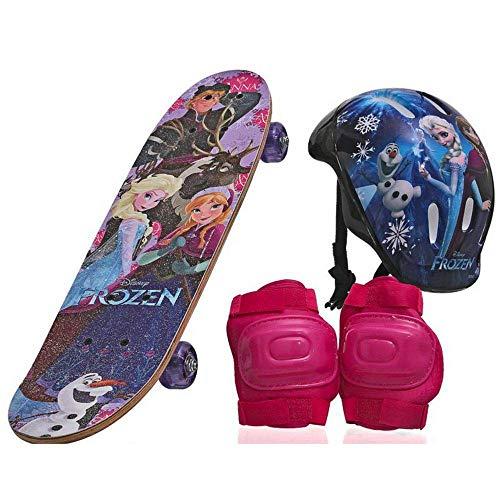 Skate Infantil Frozen Menina com Proteção