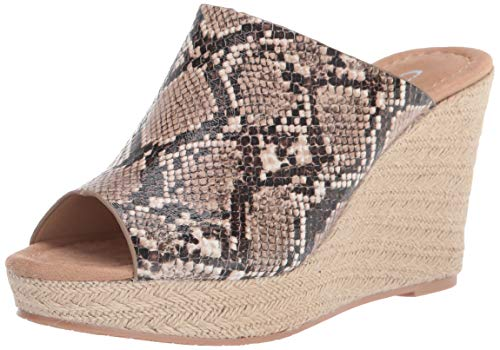 CL by Chinese Laundry Women's Wedge Sandal, Beige, 7.5
