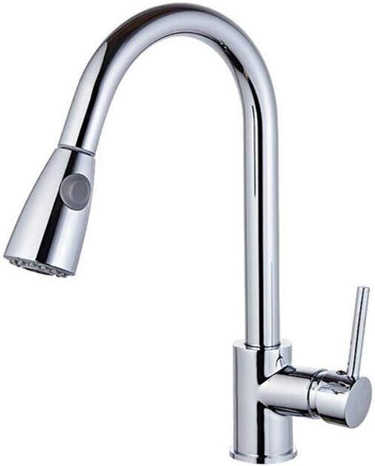 Faucet Retro Kitchen Bathroom Faucet Faucet Kitchen Faucets Silver Single Handle Pull Out Kitchen Tap Single Hole Handle Swivel 360 Degree Water Mixer Tap