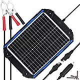 SUNER POWER Waterproof 12V Solar Battery Charger & Maintainer Pro - Built-in Intelligent MPPT Charge Controller - 20W...