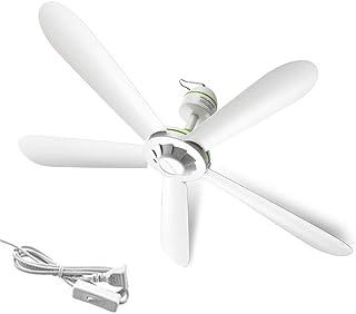 JXRY Ventiladores de Techo, Ventilador de mosquitera eléctrico de 35 Pulgadas para Interiores, 5 Cuchillas y Control Remoto de temporización para Dormitorio Restaurante (NO Control Remoto)