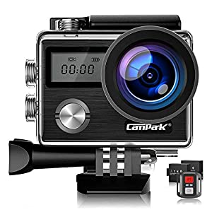 【Upgrade】Campark X20 Native 4K Action Camera 20MP with EIS, Touch Screen, Remote Control and 170° Wide-Angle Underwater Waterproof Camera 40M with 2 Rechargeable Batteries and Professional Accessories Kits