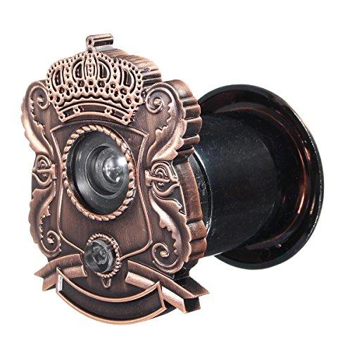Mirilla de bronce vintage para puerta de espía combinada con timbre y...