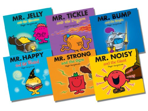 Mr Men Glitter Collection, 6 books Pack Set, RRP £17.94 (Mr Jelly and the Pirates; Mr Tickle and the Dragon; Mr Bump and the Knight; Mr Happy and the Wizard; Mr Strong and the Ogre; Mr Nosey and the Beanstalk) (Mr Men)