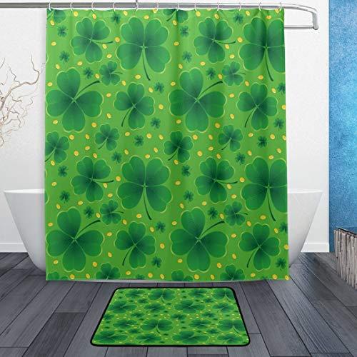 cortinas baño hojas verdes