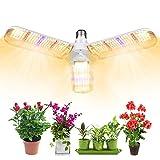 植物育成ライト100W相当 フルスペクトル 414LED E26口金 暖色系 擬似太陽光 角度調整可能 室内栽培用 多肉植物 観葉植物 野菜 家庭菜園 水耕栽培など適合する 植物成長を促進する
