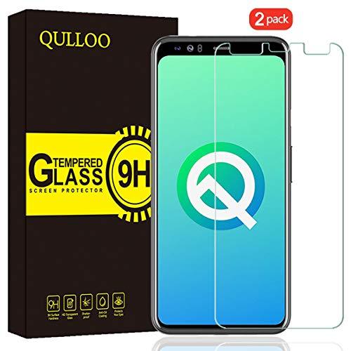 QULLOO Panzerglas für Google Pixel 4 XL, Panzerglas Schutzfolie 9H Hartglas HD Bildschirmschutzfolie Anti-Kratzen Panzerglasfolie Handy Schutzglas Glas Folie für Pixel 4XL - [2 Stück]