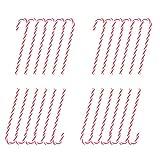 Ambolio 24 pièces,Canne de Bonbons Plastique de Noël,Suspendus Candy Cane De Noël,Décorations Sucres d'orge,Canne en Bonbon Décorations d'arbre De Noël,Noël Candy Cane. (Rouge)