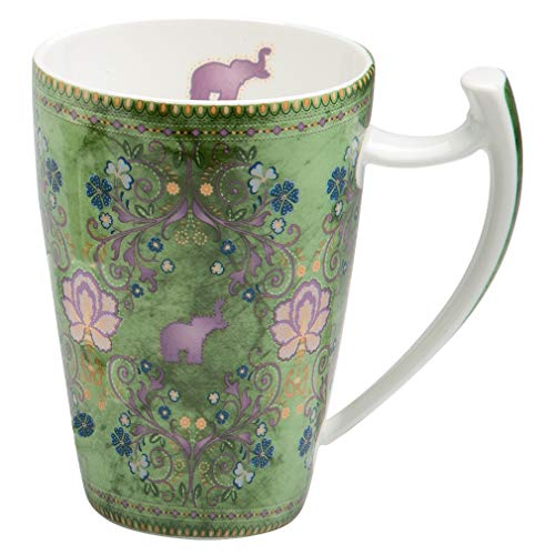 TeaLogic Jumbotasse Rani - Megabecher Tasse mit Elefanten Elefant Motiv - Tea Logic Becher Bone China (500ml)