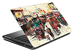 Paper Plane Design Laptop Skin Cover For All Models Up To 17 Inch Screen Print Size 15.5 Inch X 10.5 Inch - Multicolor
