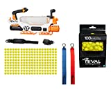 Nerf Rival Prometheus MXVIII-20K Blaster with 200 Nerf Rival Rounds bundle with Nerf Rival 100-Round Refill Pack for Nerf Rival Blasters