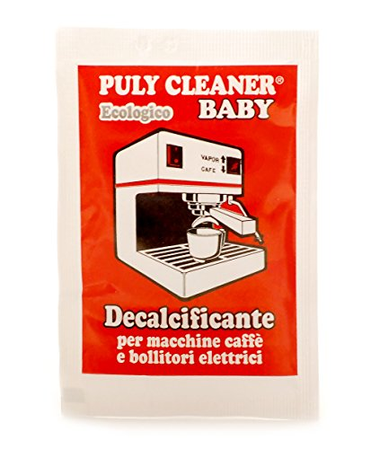 Puly 'Baby' Cleaner Descaler Limescale Remover for Espresso Coffee Machines (10 x 30g) by Puly