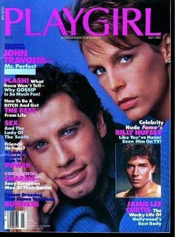 Playgirl Magazine July 1985: John Travolta; Billy Hufsey NUDE; SExy European Men at their Barest!