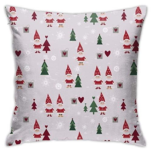 Throw Pillow Cover Cushion Cover Pillow Cases Decorative Linen Red Christmas Santa for Home Bed Decor Pillowcase,45x45CM