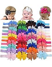 40 cintas para el pelo de lazo de grogrén para niñas de 7,6cm, accesorios para el pelo para bebés recién nacidos