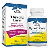 Terry Naturally Thyroid Care - Iodine + L-Tyrosine, 120 Capsules - Thyroid Support Supplement, Promotes Energy, Metabolism & Lustrous Hair - Non-GMO, Gluten-Free, Kosher - 60 Servings