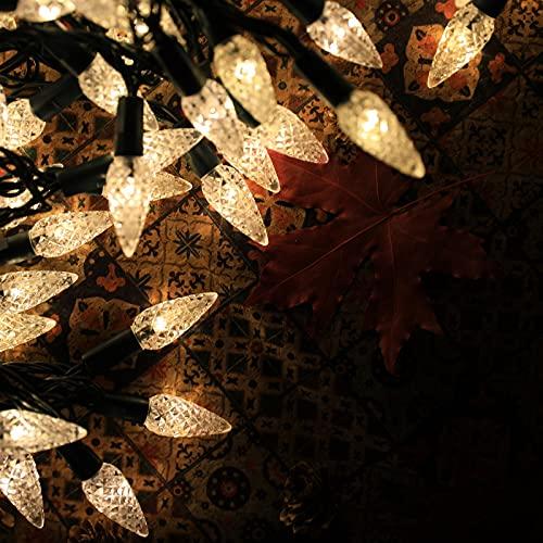 LED String Lights Outdoor,C6 200 LEDs 65.6FT Fairy Lights Timer Function...