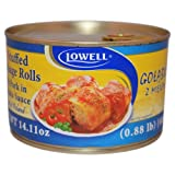 Lowell Foods Canned Stuffed Cabbage Rolls with Pork in Tomato Sauce 400g (Pack of 3)