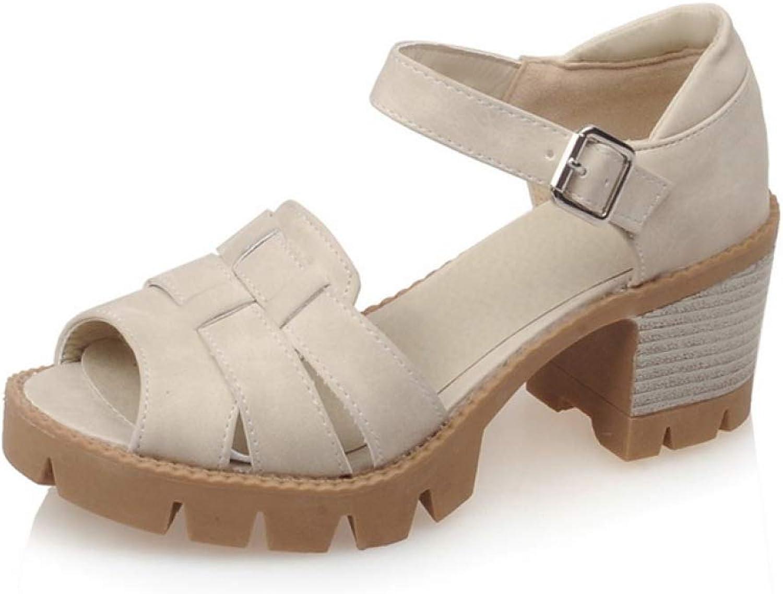T-JULY Summer Fashion Comfortable Sandals Buckle Strap Platform shoes Woman Sandals